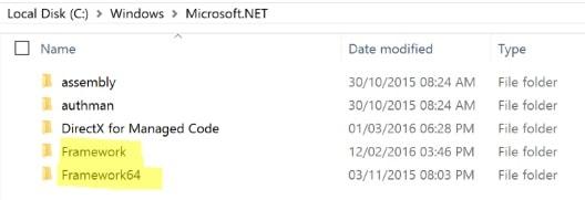 Both .NET Frameworks