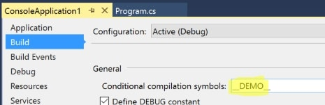Conditional Compilation Symbol