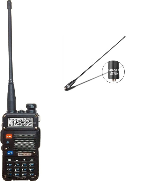 BaoFeng BF-F8HP Transceiver with a Nagoya NA-771 Antenna