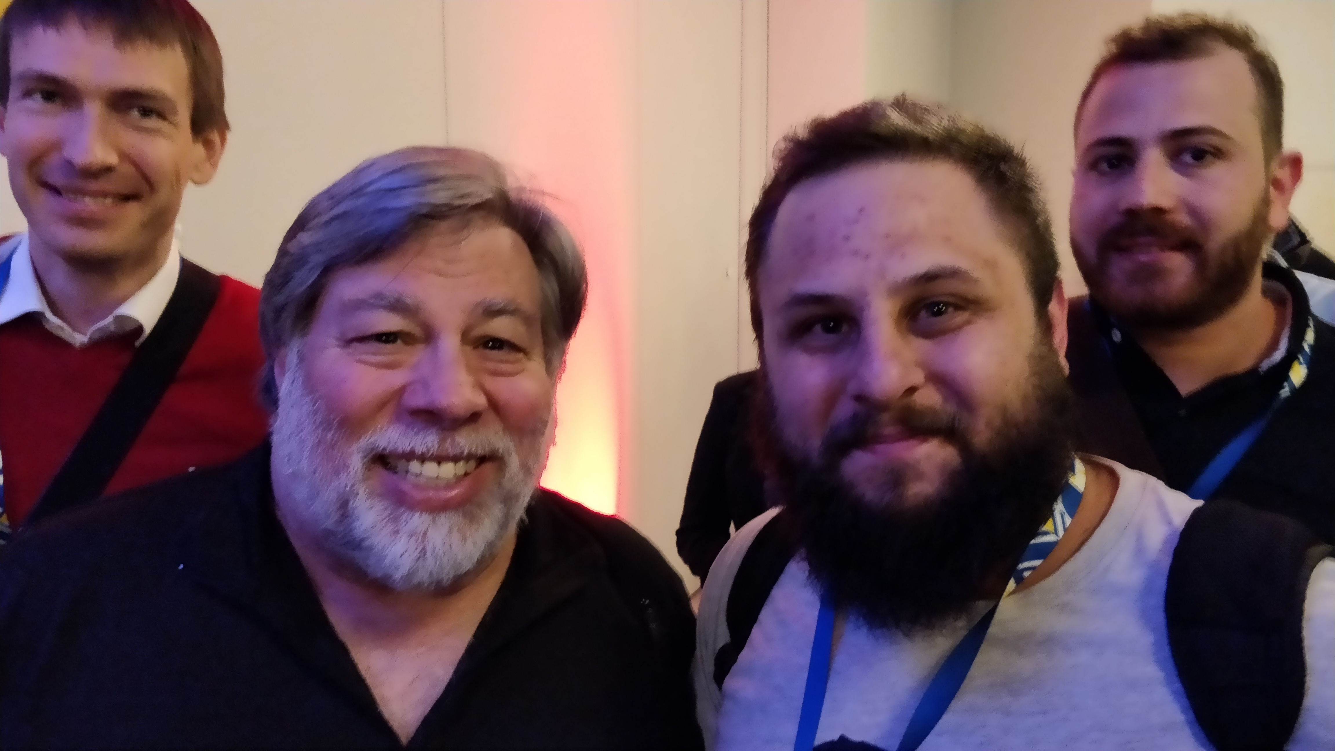 Edgars, Steve Wozniak, Myself and Michele